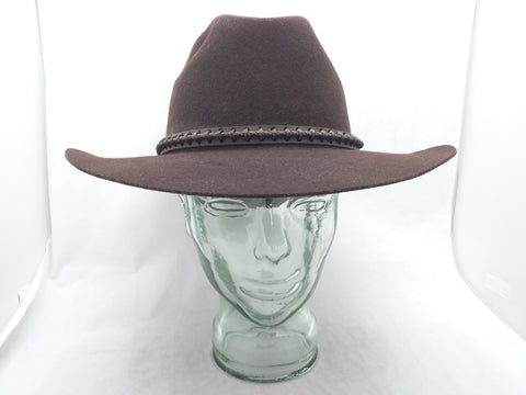 7.5 LHC Brands Hat Wool Elko Western Cowboy Brown
