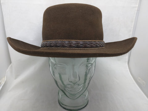 Stetson Gambler Hat Cowboy Telescope Brown Guess SZ M to L Large
