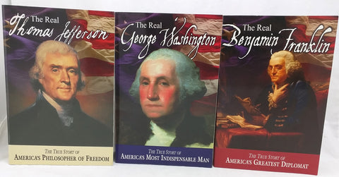 THE REAL GEORGE WASHINGTON THOMAS JEFFERSON BENJAMIN FRANKLIN BOOK LOT Skousen