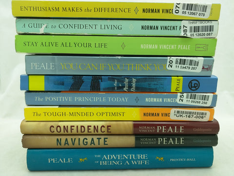 10 Norman Vincent Peale Book Set The Power of Positive Thinking Inspiring Bestsellers