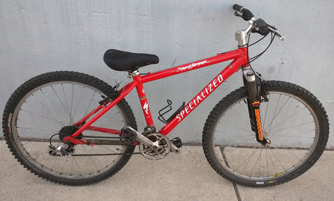 StumpJumper Specialized M2 Mountain Bike Bicycle Red Small Young Adult Short Stump Jumper