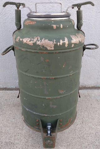 Stanley Insulated Stainless Water Cooler Jug JEEP Mounted Vintage Military ?