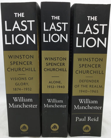 1 2 3 The Last Lion Winston Churchill William Manchester Volume book series Set WWII