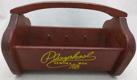 Playskool Sewing Spool Box Wood Carrier Wooden Playschool Vintage