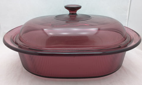 Roaster Vision Cranberry Pyrex 11x14