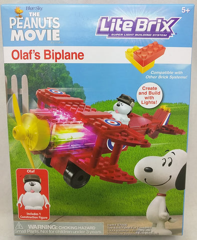 Olaf Figure Biplane LITE BRIX The Peanuts Movie 57006 NEW Sealed Box 5+