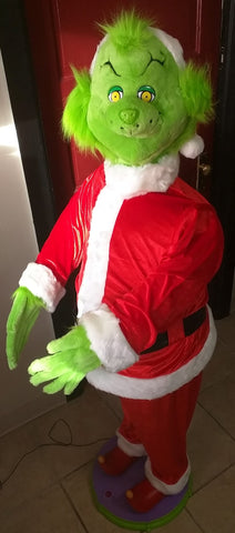 5' Tall Animated Singing Dancing How the Grinch Stole Christmas 2004 Gemmy Seuss Life Size