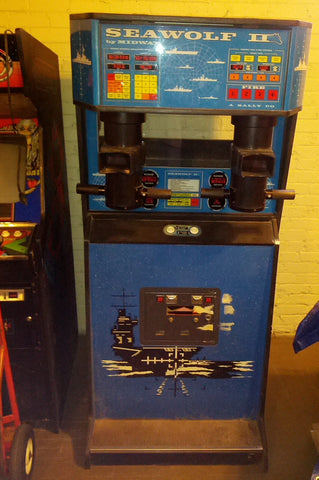 SeaWolf II Midway Full Upright Arcade Video Game Vintage Sea Wolf