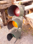 Traffic Stop Light Signal Vintage Red Yellow Green Metal