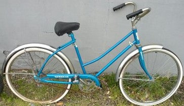 Warrior Blue Bike Bicycle Vintage Ladies