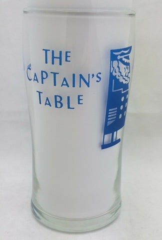 "5"" Drinking Glass THE CAPTAIN'S TABLE RESTAURANT SEATTLE WA Ivar Haglund PIER 54"