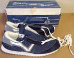 VANS Vintage Big V Blue 1983 New Serio Running Shoes 15.5 16 16.5 4 E wide width