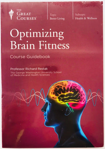 The Great Courses~OPTIMIZING BRAIN FITNESS~2 DVD's 12 Lectures w/Guidebook