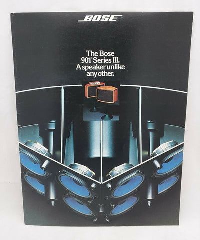 Bose 901 Series III 3 Speaker Sales BOOKLET pamphlet book guide manual AD 1976