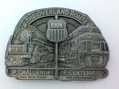 Union Pacific UPRR OVERLAND Route UP Challenger Alco Centennial USA Belt Buckle