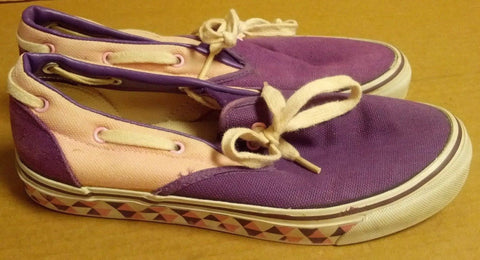 Vintage Scats Low-Top Sneakers Slip-on Shoes SiZe 6.5 pink purple Made in Korea