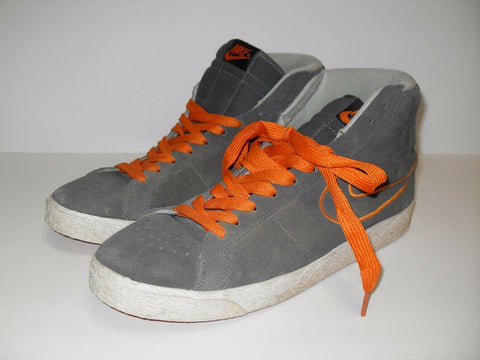 NIKE SWOOSH SKATEBOARD HIGH TOP SHOES 310801 081 SMOKE GRAY ORANGE US 11