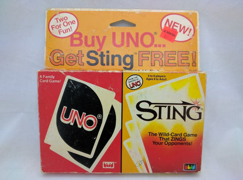 RARE 1984 Vintage UNO And STING Card Game Set Retail together New International