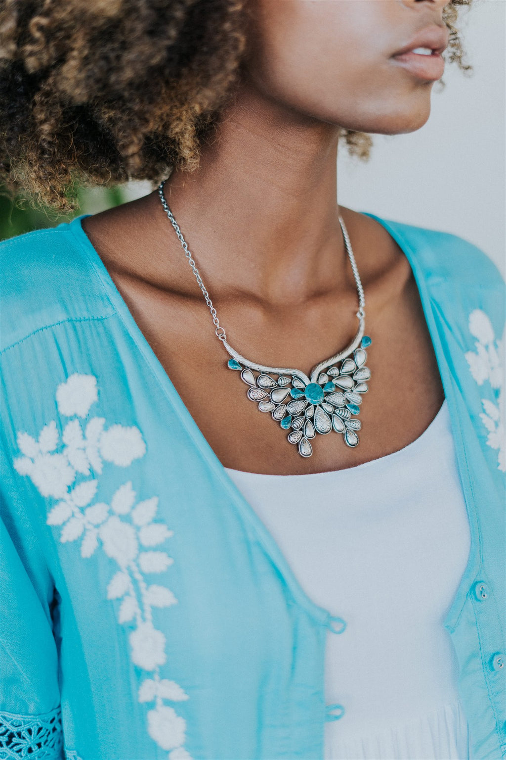 Starla Necklace Blue Stone Back in stock 16th Jan