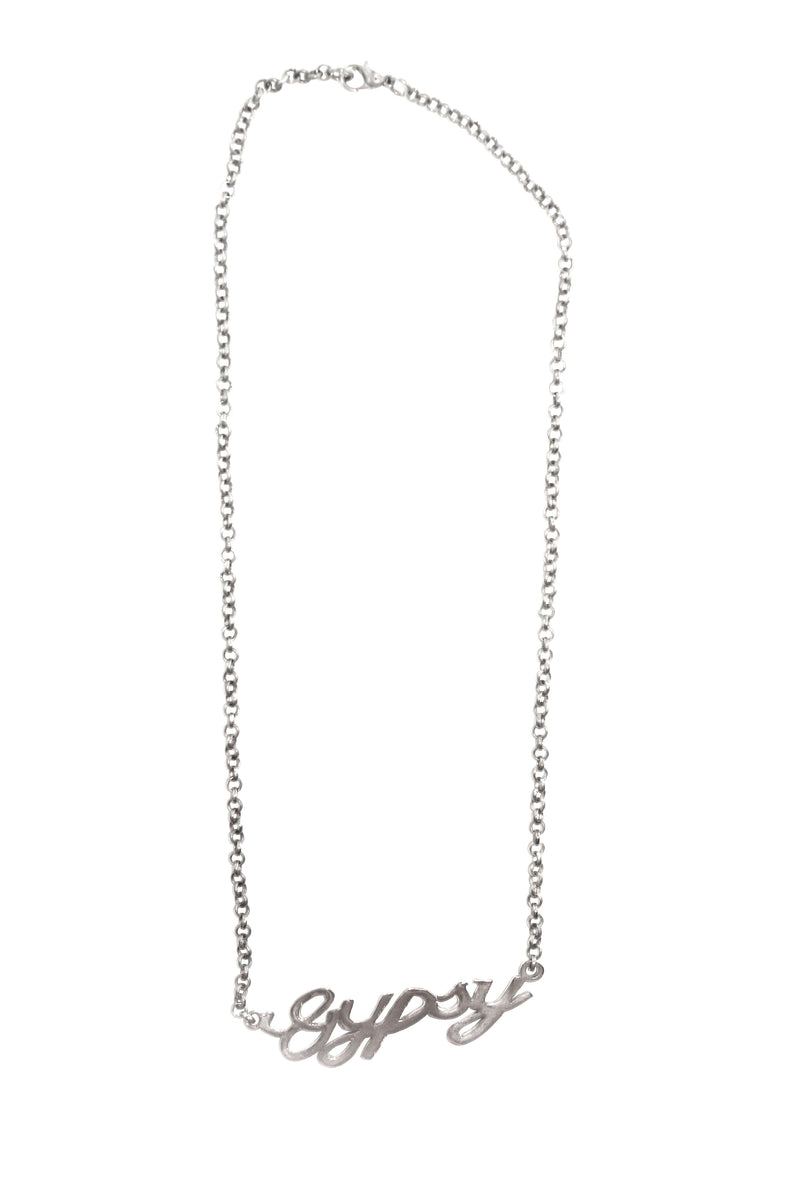 Gypsy Nameplate Necklace