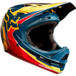 Casco Fox Rampage Pro Carbon Kustom 2018 -  Red/Yellow