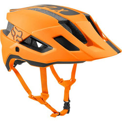 Casco Fox Flux Black Rush - ATMC Orange