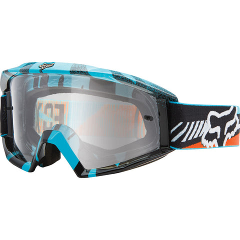 Antiparras Fox Main Vicious - (Aqua-Orange/Clear)