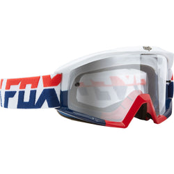 Antiparras Fox Main Mako (Red/White/Blue Clear)