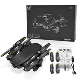 DM DM107 WIFI FPV With Dual 2MP Camera Optical Flow Altitude Hold Mode Foldable RC Drone Quadcopter
