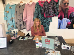 Lisa on the Slouchy stand at CarFest North 2021