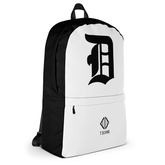 "Detroit ""D"" Backpack - White Edition"