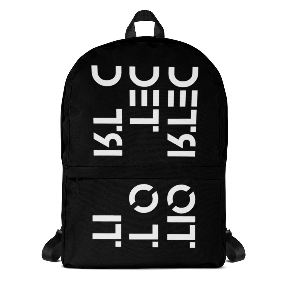 All Over Detroit - Black Backpack