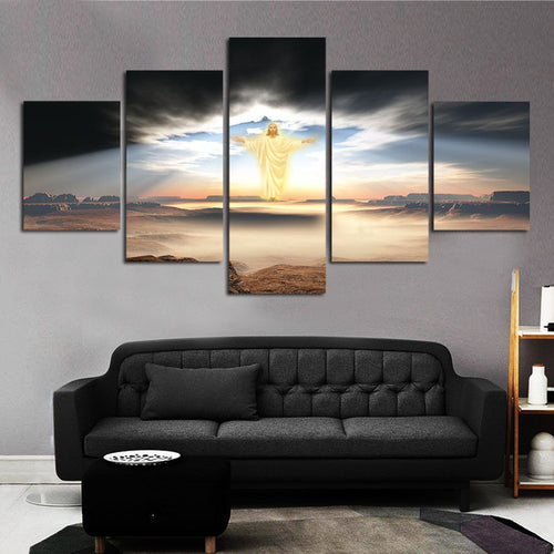 Unframed 5 PCS Painting of Jesus Christ - JC-1
