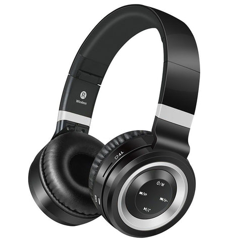 VolkanoX Lunar Series Bluetooth Headphones - Black Silver