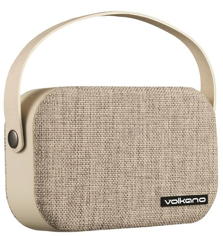 Volkano Fabric Series Bluetooth Speaker - Light Grey