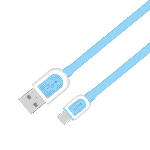Astrum Micro USB Charge / Sync Flat Cable UD360 - Blue + White