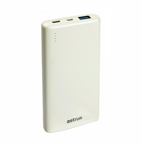 Astrum 10000mAh Fast Charge 3.0A Powerbank with Type-C PB320 - White