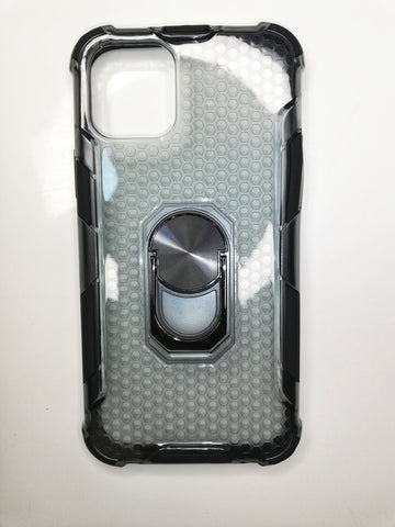 iPhone 12 Hard Cover Case - Clear Black