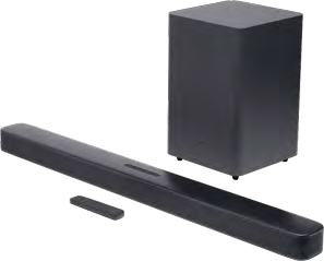 JBL Bar 2.1 Deep Bass Soundbar with Subwoofer - Black