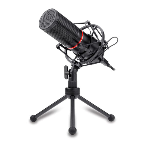 Redragon Cardioid USB Gaming Mic and Tripod - Black