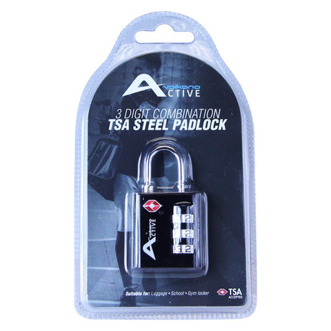 Volkano Active Safe Series TSA Lock - Black