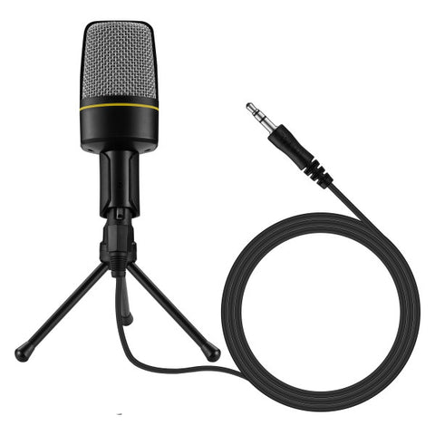 Volkano Stream Media Series Omnidirectional 3.5 mm Desk Microphone – Black