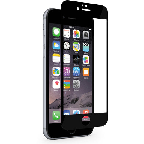 iPhone 6/6s Full Glass Screen Protector - Black