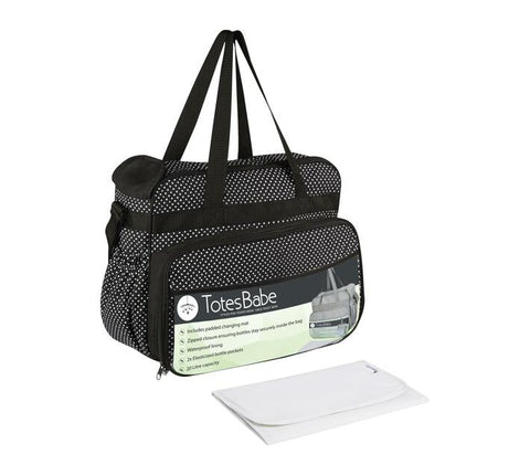 Totes Babe Vivir 20L Diaper Bag - Black