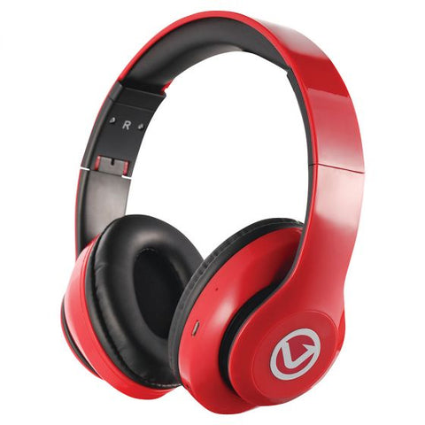 Volkano Impulse Series Bluetooth Headphones - Red