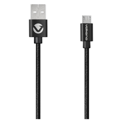 Volkano Braid Series Micro USB Cable - Black