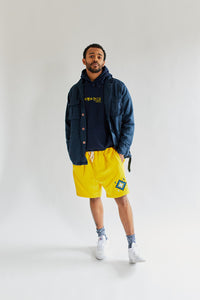 BRAHIM SWEATSHORT - SUNSHINE YELLOW PIMA FLEECE