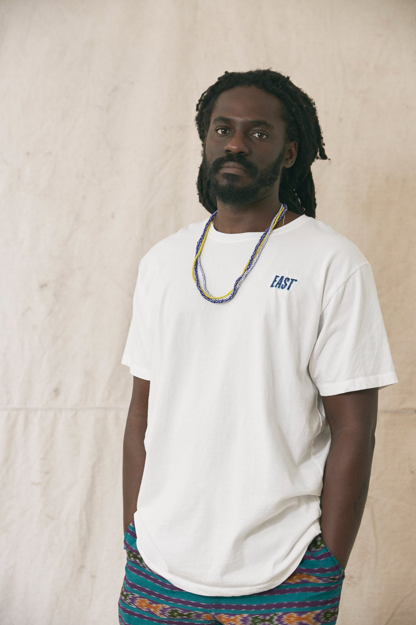 18 EAST X STANDARD ISSUE HAND-DYED TEE - WHITE
