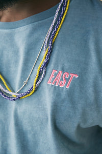 18 EAST X STANDARD ISSUE HAND-DYED TEE - PETROL BLUE