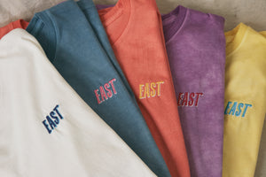 18 EAST x STANDARD ISSUE HAND-DYED TEE - CORAL